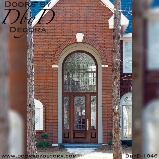 leaded glass exterior entry