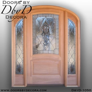 leaded glass elliptical entry
