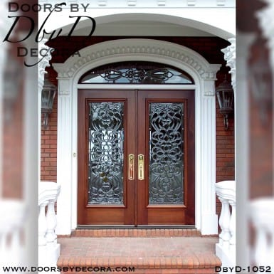 leaded glass colonial entry