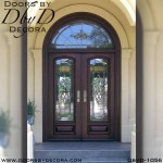 leaded glass double door entry