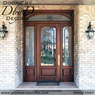 leaded glass exterior door