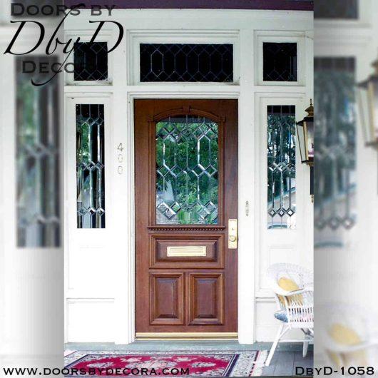 leaded glass replacement door