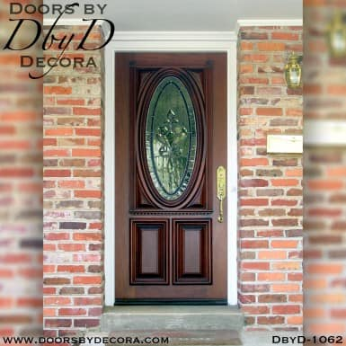 leaded glass oval replacement door