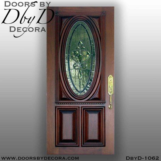 leaded glass oval replacement door