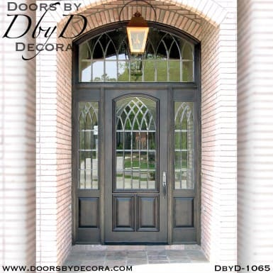 leaded glass cathedral style door