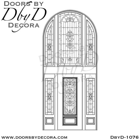 leaded glass tall entry