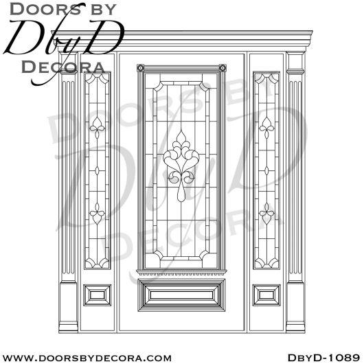leaded glass traditional door