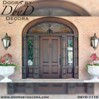 leaded glass traditional exterior entry
