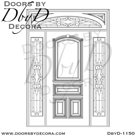 leaded glass door with glass entry
