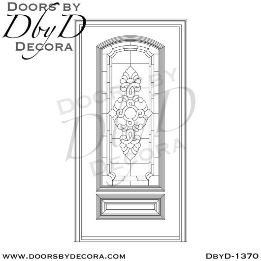 leaded glass wood door