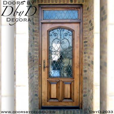 leaded glass iron door