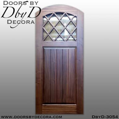rustic diamond glass door