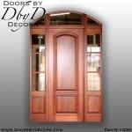 solid door segment top exterior entry