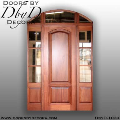 solid door segment top exterior entry