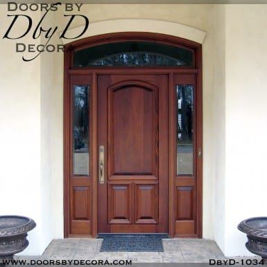 solid door wood exterior entry