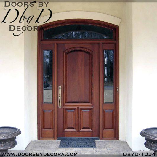 solid door wood exterior entry