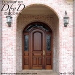 solid door exterior wood entry