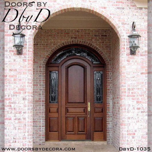 solid door exterior wood entry