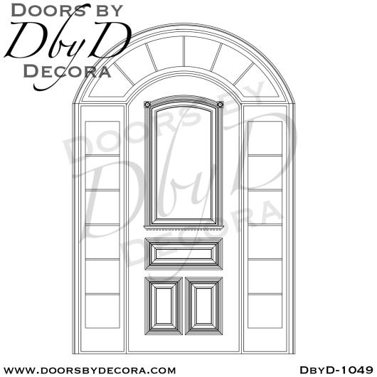 solid door with TDL sidelites
