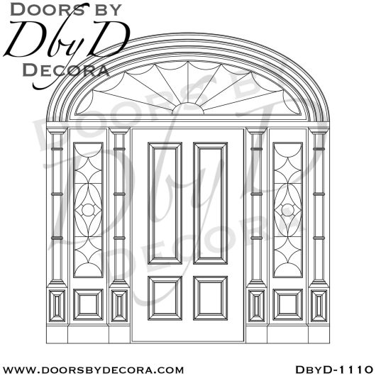 solid door traditional exterior entry