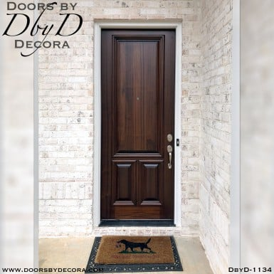 solid door mahogany entry
