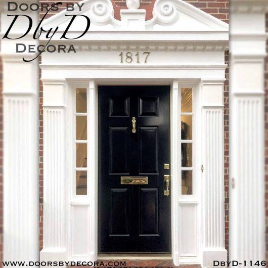 solid door traditional 6-panel custom door