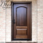 solid door 2-panel wood door