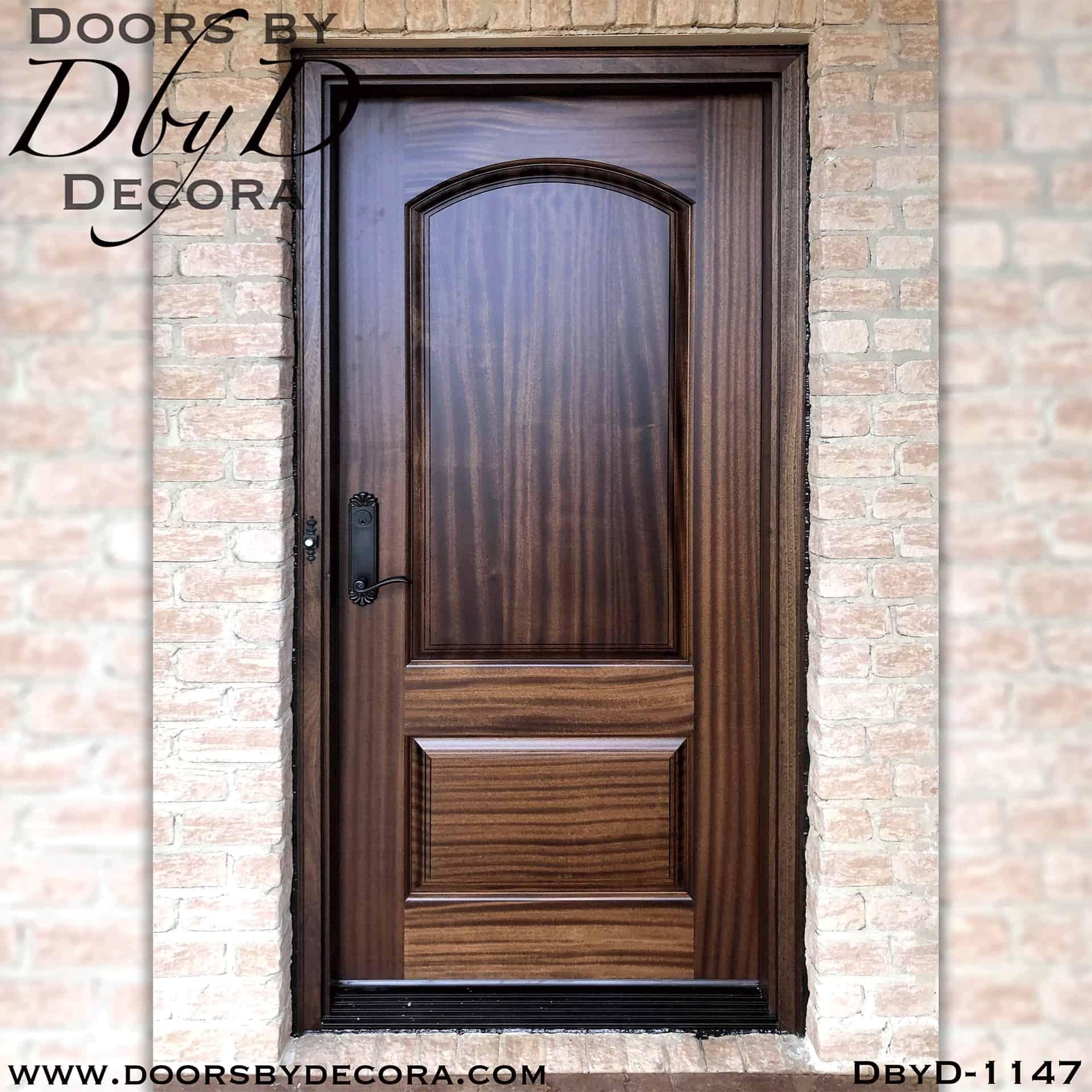 Custom Solid Door 2 Panel Wood Exterior Front Entry Doors By Decora
