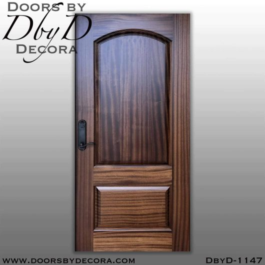 solid door 2-panel wood door