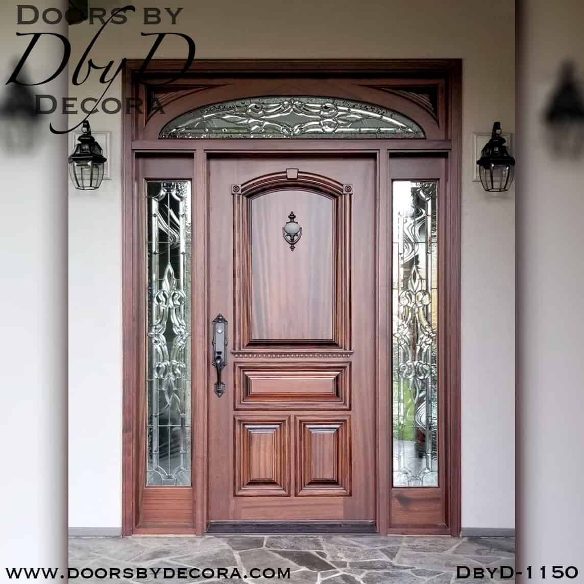 Custom Solid Door With Leaded Glass Exterior Entry Doors By Decora