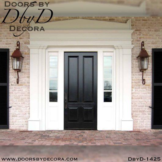 solid door colonial front entry