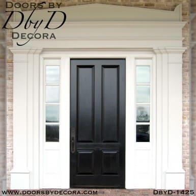 solid door colonial front entry
