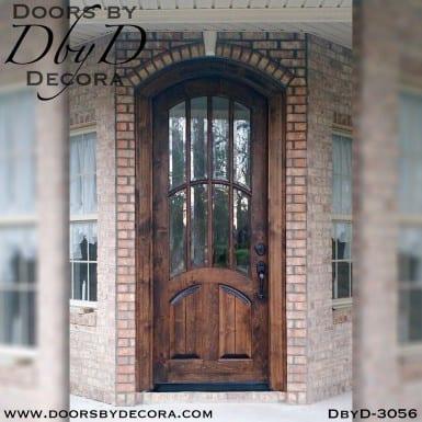 old world arched tdl door