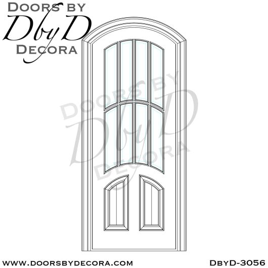 old world arched tdl door