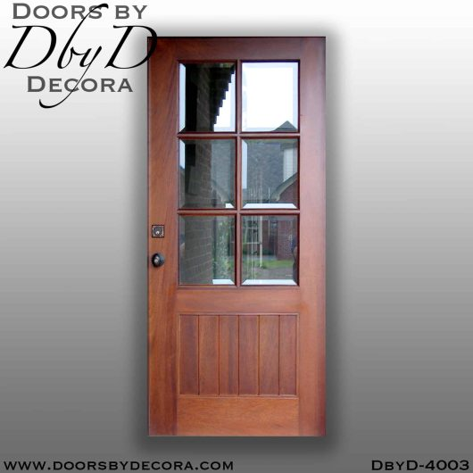divided lite six lite door