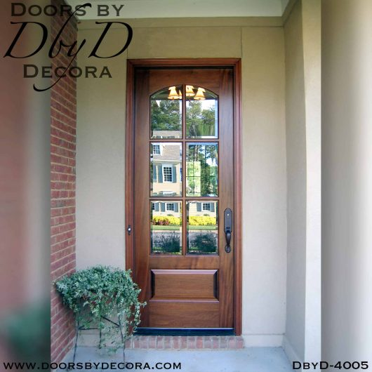 divided lite door with segment glass