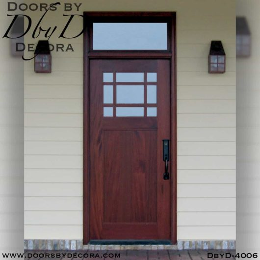 divided lite craftsman door and transom