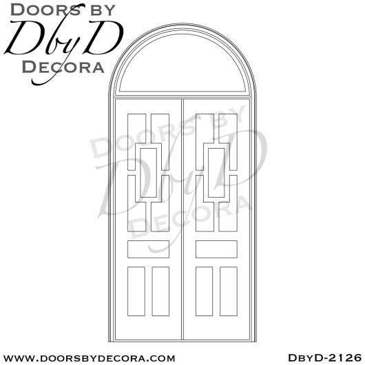 iron grill custom panel door