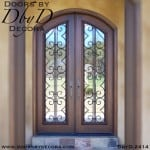 iron grill double doors