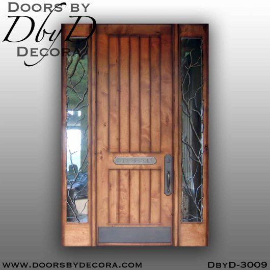 iron grill v-groove door