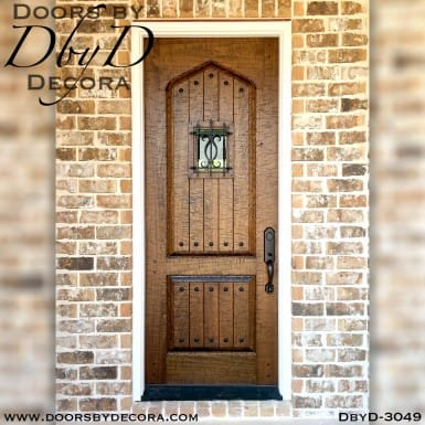 iron grill hand distressed door