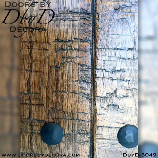 iron grill hand distressed door