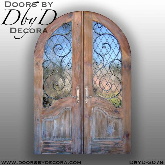 iron grill doors with glass