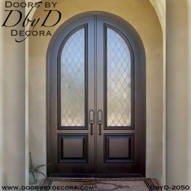 leaded glass double exterior doors