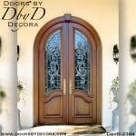 leaded glass radius doors