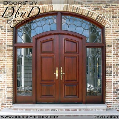 leaded glass doors sidelites and transom