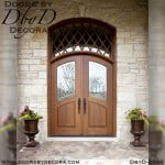 leaded glass mahogany tdl doors