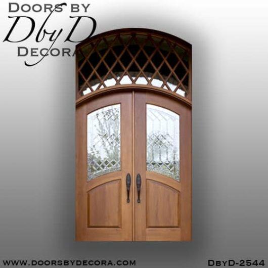leaded glass mahogany tdl doors