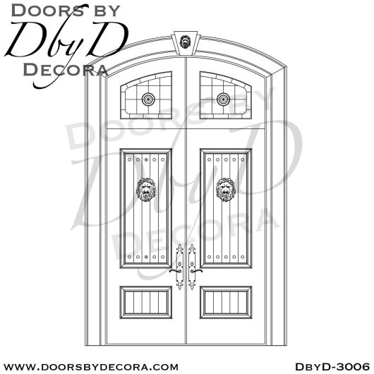 leaded glass distressed doors