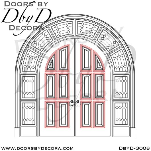 leaded glass rustic entrance